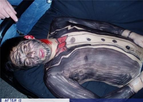 marker,passed out,sharpie,suit,tux