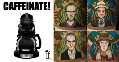 art,Starbucks,etsy,coffee cups,doctor who