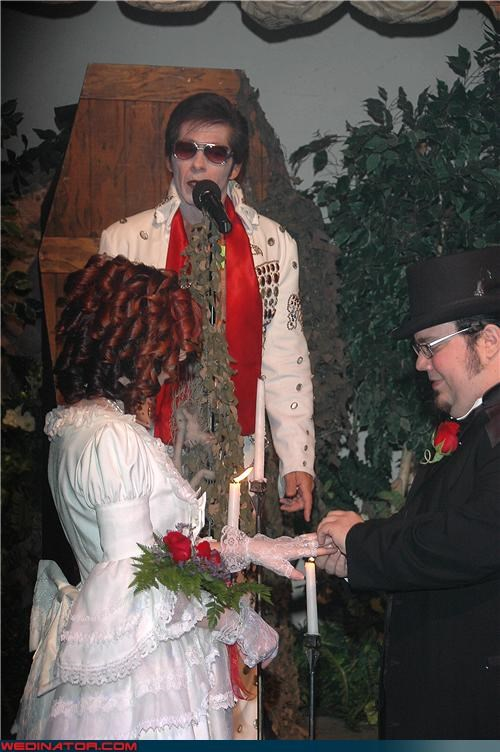 bride Crazy Brides crazy groom elvis officiant Elvis wedding in Vegas fashion is my passion funny wedding photos groom happy-valentines-day surprise themed wedding undead wedding Valentines day Vegas wedding were-in-love Wedding Themes zombie elvis wedding zombie wedding