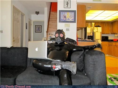 boots,gas mask,laptop,latex,scuba,wtf