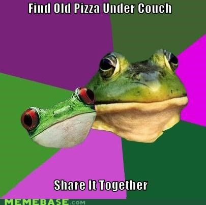 couch Memes pizza sharing is caring