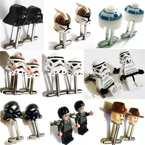 cufflinks geek fashion Harry Potter lego fan legos merch star wars - 4419088640