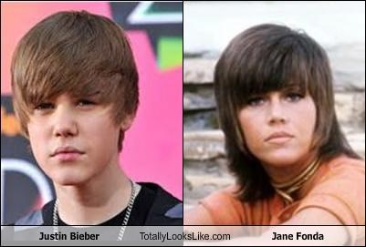 actress Jane Fonda justin bieber musician tween