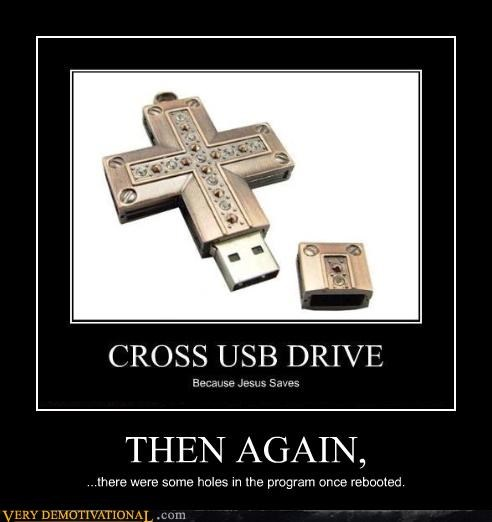 christian computer cross usb drive