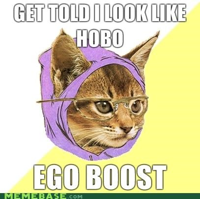 chic,ego boost,Hipster Kitty,hobo