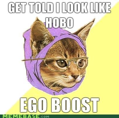 Hipster Kitty hobo - 4419346176