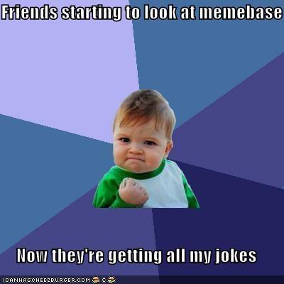 friends jokes memebase success kid - 4419362560