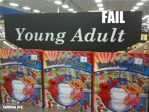 books,elmo,failboat,g rated,potty,store,young adult
