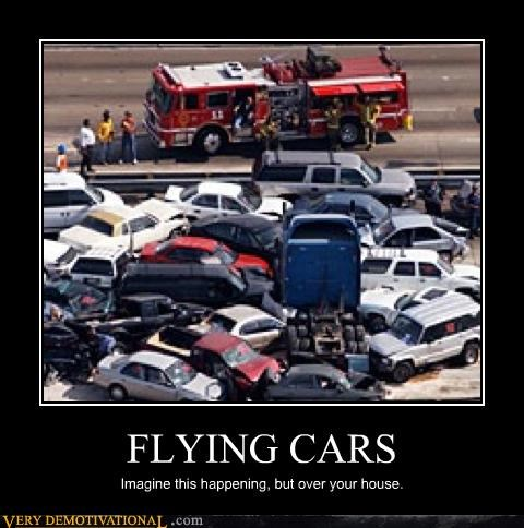 accident bad idea cars flying cars - 4419554560