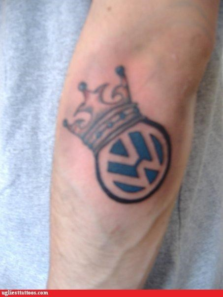 volkswagen,tattoos,crowns,funny,g rated,Ugliest Tattoos