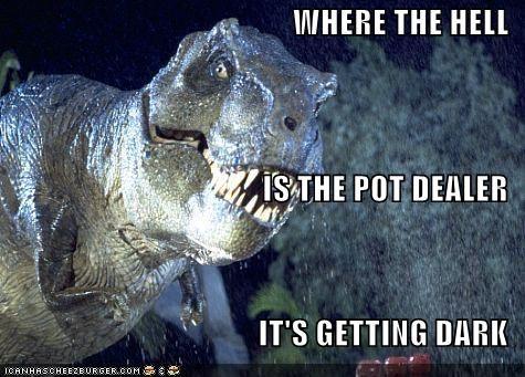 dinosaur,drugs,funny,jurassic park,wtf