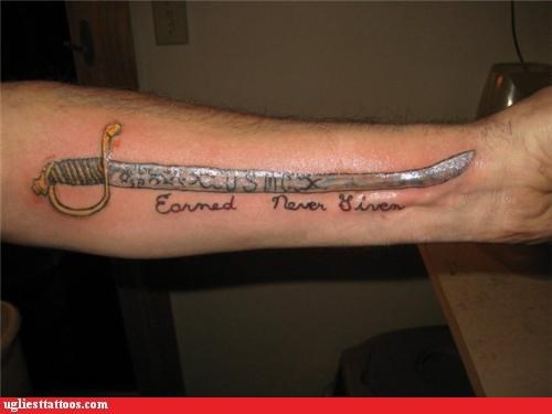 swords tattoos marines funny - 4420262144