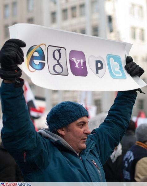 cairo egypt Hosni Mubarak internet protests riots signs - 4420267520