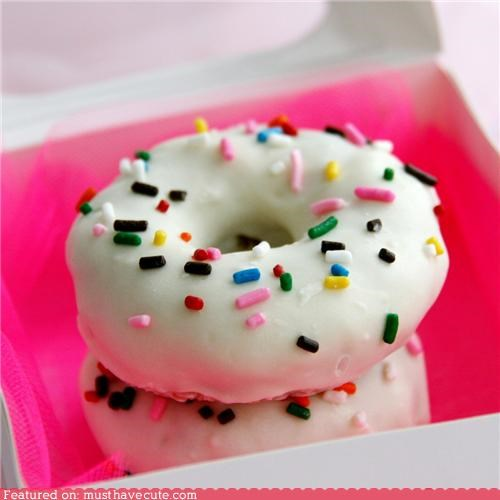 colorful,donuts,epicute,icing,sprinkles,white