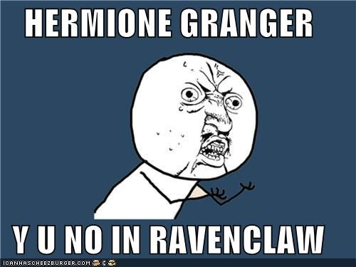 Harry Potter,hermione,sorting hat,Y U No Guy