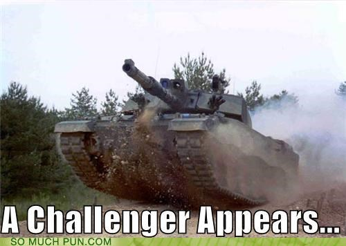 announcement appears Challenger double meaning literalism phrase saying street fighter II tank - 4420566272