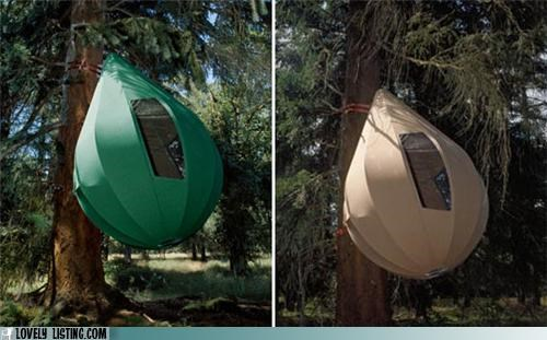 hang,sack,tent,tree