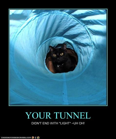 YOUR TUNNEL DIDN'T END WITH *LIGHT* ~UH OH!