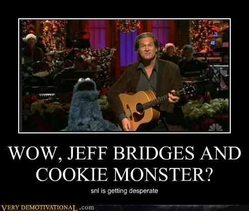 WOW, JEFF BRIDGES AND COOKIE MONSTER? snl is getting desperate