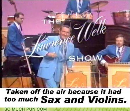 big band brass cancellation cancelled explanation lawrence welk off-rhyme reason sax sex the lawrence welk show variety show violence violins - 4421475328