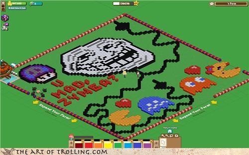facebook Farmville pacman trollface zynga - 4421554944