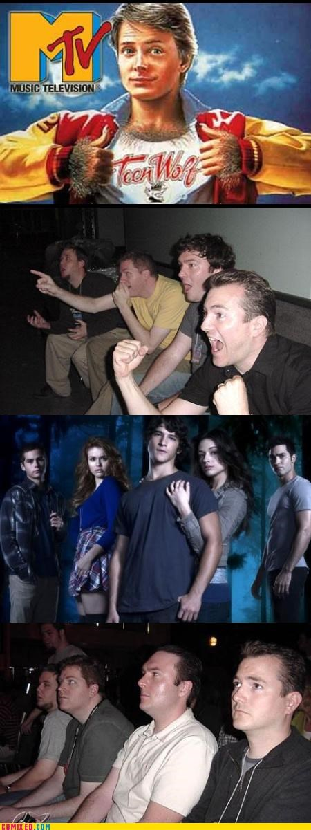 mtv,reaction guys,sad but true,teen wolf,werewolves