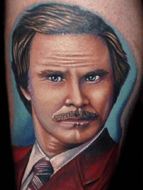 Ron Burgundy,tattoos,anchorman,funny