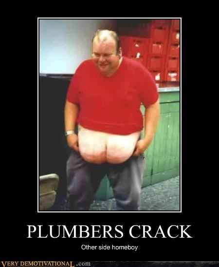 plumbers crack,booty,other side