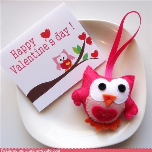 felt Owl Plush valentine - 4422560000