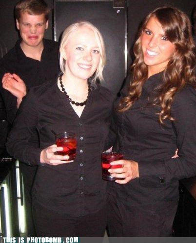 awesome babes drinking photobomb snooty face - 4422742784
