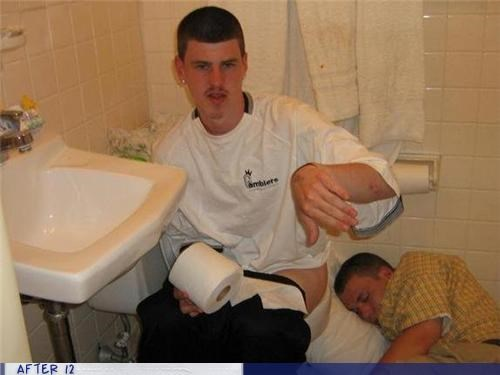 bathroom passed out Pillow shower toilet - 4422824448
