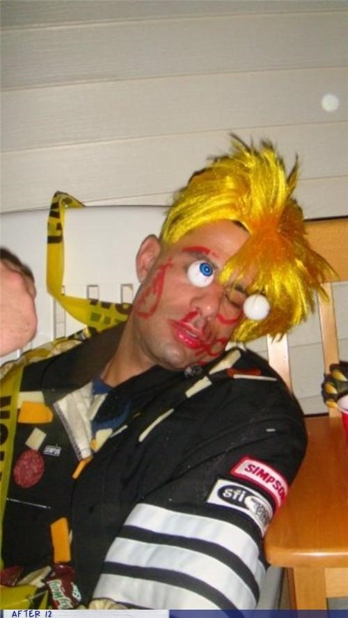 bart simpson,eyes,markers,passed out,wtf