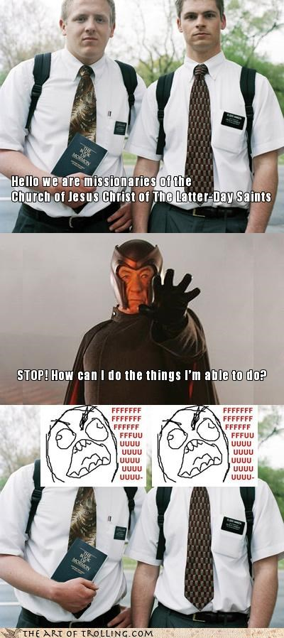 comic,ffffuuuuu,Magneto,magnets,mormons,x men