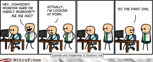 boss cyanide and happiness Office work