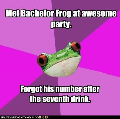drunk foul bachelorette frog Party ships passing in the night
