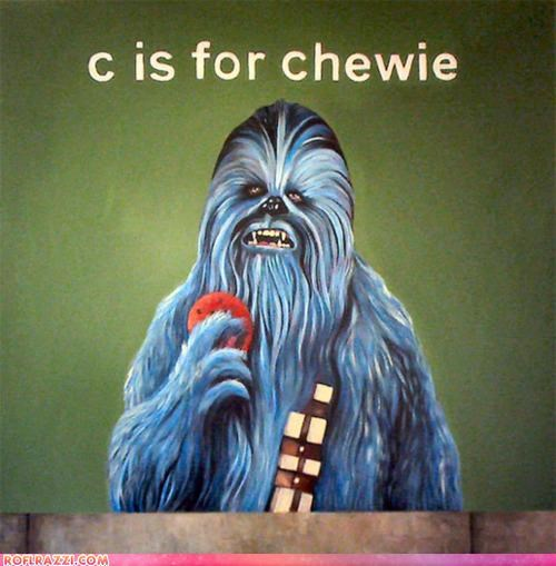 art,chewbacca,funny,Hall of Fame,sci fi,Sesame Street,star wars