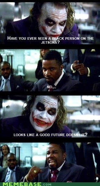 batman heath ledger jetsons jk joker racism the future - 4423106560