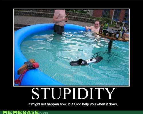 bad idea electricity pool stupid water - 4423205888
