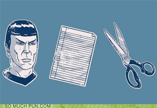 game paper rhyme rhyming rock scissors Spock Star Trek Vulcan - 4423209984