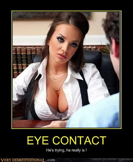 boobies cleavage eye contact - 4423244544