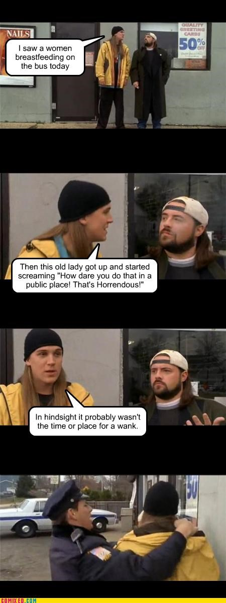 clerks,From the Movies,Jay,ladybags,masturbation,Silent Bob