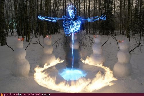 art awesome mysticism skeletons snow wtf - 4423335168