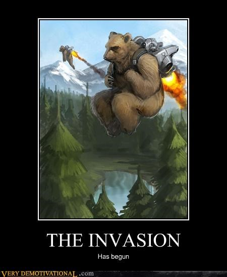bear,invasion,jet pack,scary