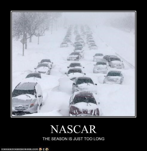 cars,chicago,disaster,nascar,pileup,snow,weather