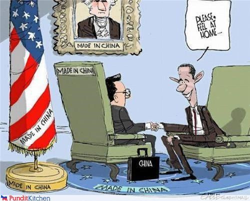 american barack obama cartoons China made in china manufacturing president