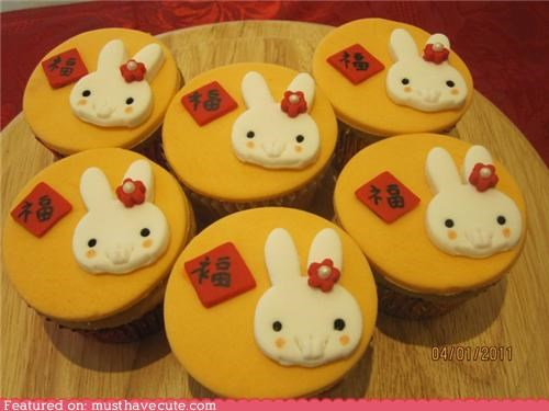 bunny chinese new year cupcakes epicute rabbit - 4423757056