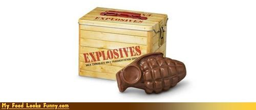 chocolate,chocolate grenade,explosive chocolate,explosives,grenade,milk chocolate,Sweet Treats