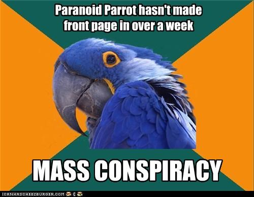 front page,Paranoid Parrot