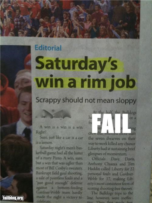 failboat headline innuendo jobs Probably bad News saturday weekends