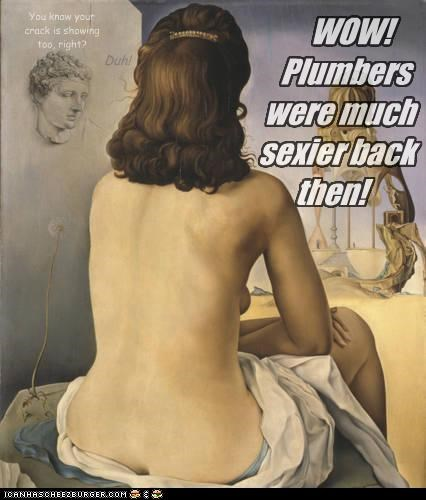 WOW!  Plumbers were much sexier back then!